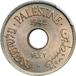 Palestine (British Mandate) / Ten Mils 1942 CuproNickel - obverse photo