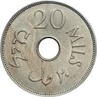 Palestine (British Mandate) / Twenty Mils 1934 - reverse photo