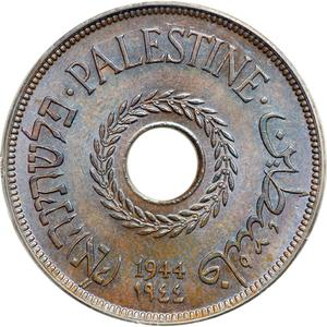 Palestine (British Mandate) / Twenty Mils 1944 - obverse photo