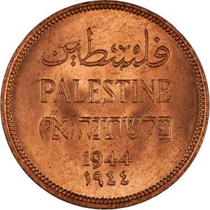 Palestine (British Mandate) / One Mil 1944 - obverse photo