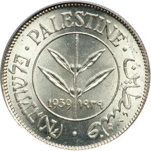 Palestine (British Mandate) / Fifty Mils 1939 - obverse photo
