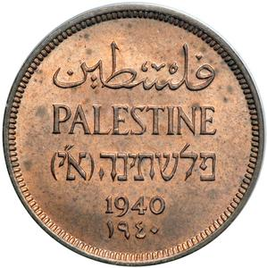 Palestine (British Mandate) / One Mil 1940 - obverse photo