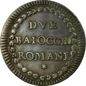 Papal States / Two Baiocchi 1794 - reverse photo