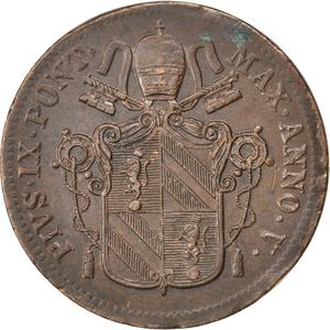 Papal States / One Baioccho 1851 - obverse photo