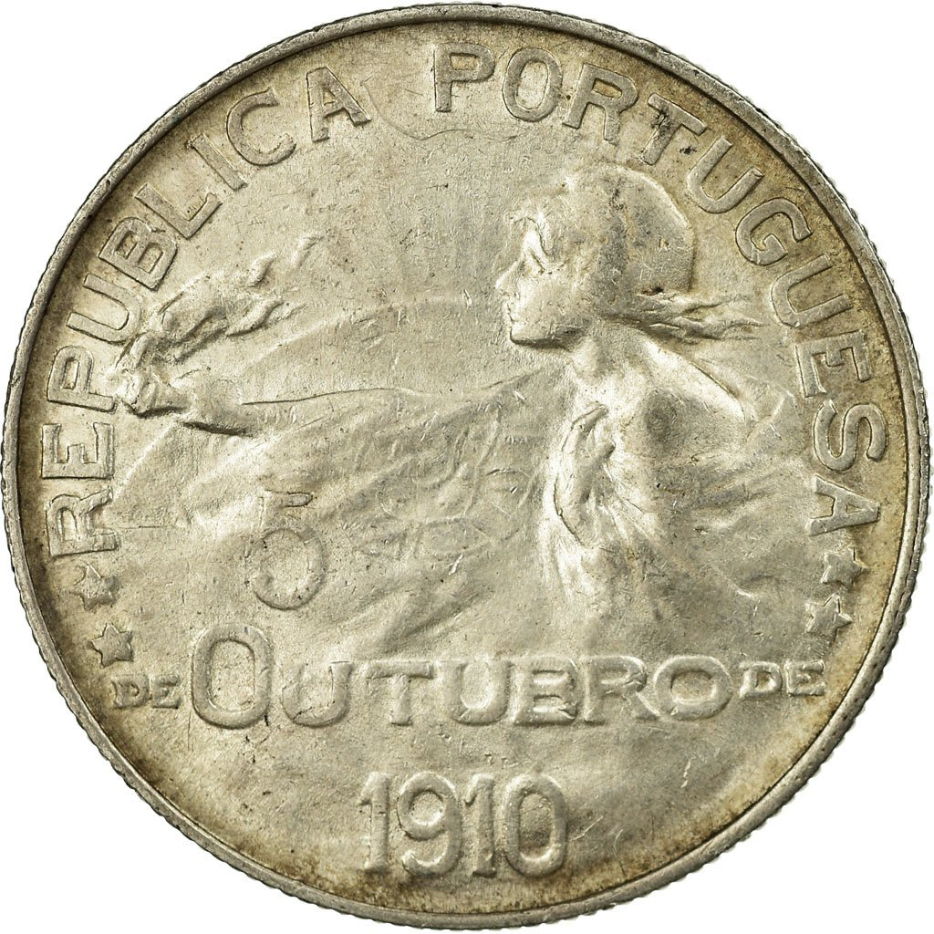 One Escudo 1910: Photo Coin, Portugal, One Escudo 1910