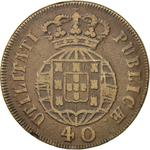 Portugal, Kingdom of / Forty Reis 1821 - reverse photo