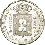 Portugal, Kingdom of / Four Hundred Reis 1834 - obverse photo