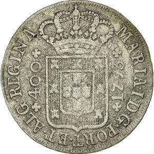 Portugal, Kingdom of / Four Hundred Reis 1793 - obverse photo