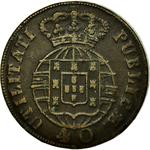 Portugal, Kingdom of / Forty Reis 1825 - reverse photo