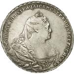 Russia, Empire of / One Rouble 1740 - obverse photo