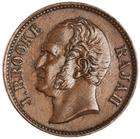 Half Cent 1863: Photo Bronze 1/2 cent, SE Asia, 1863