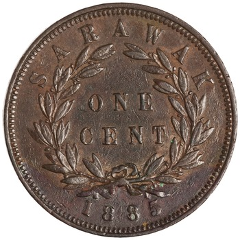 One Cent 1885: Photo Bronze cent, Birmingham, 1885