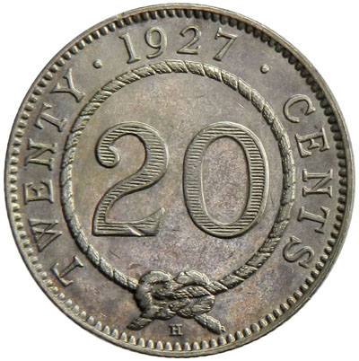 Twenty Cents: Photo Sarawak 1927-H 20 cents