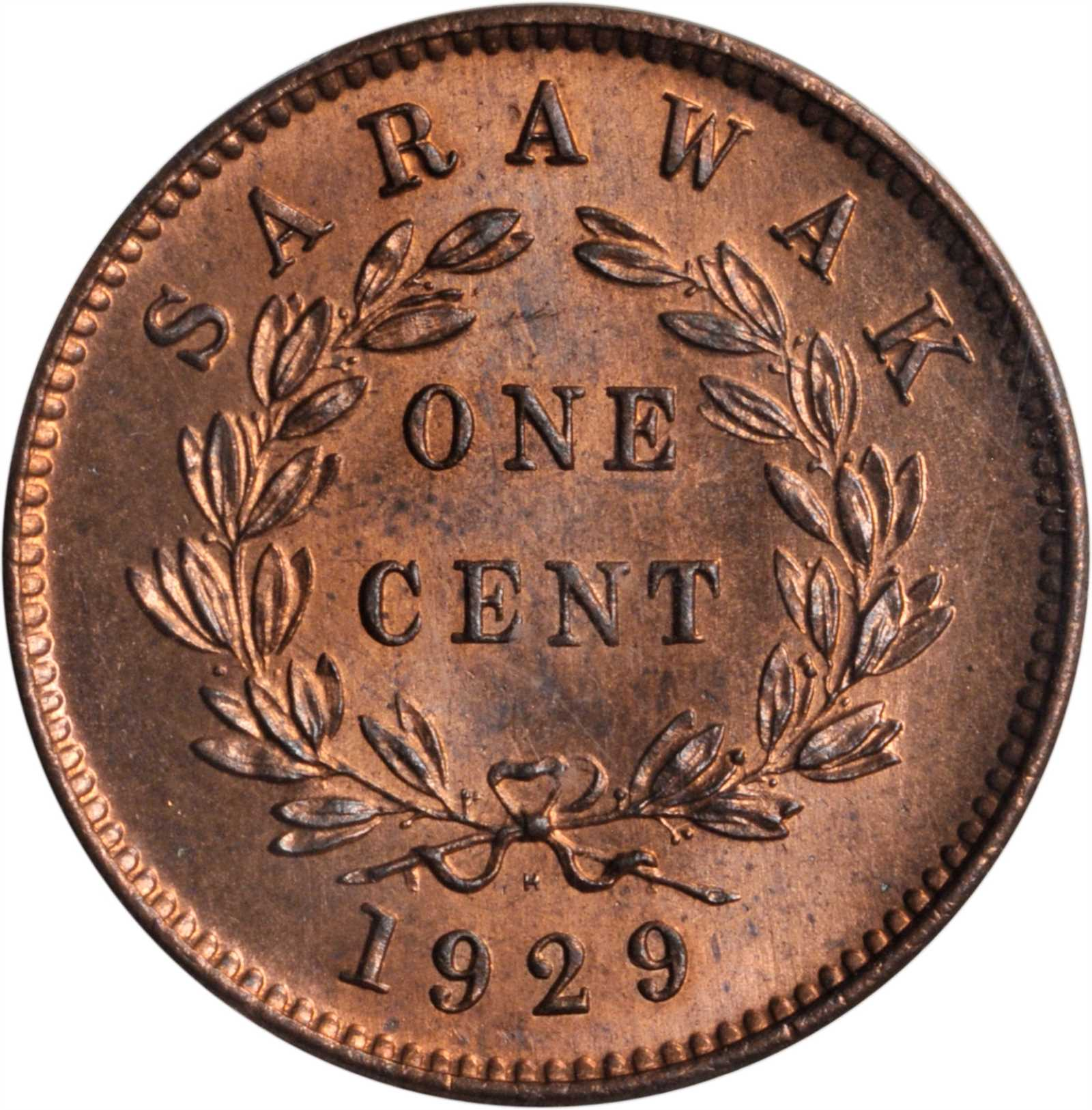 One Cent: Photo Sarawak 1929-H cent