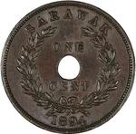 One Cent 1894: Photo Copper cent, Heaton, 1894
