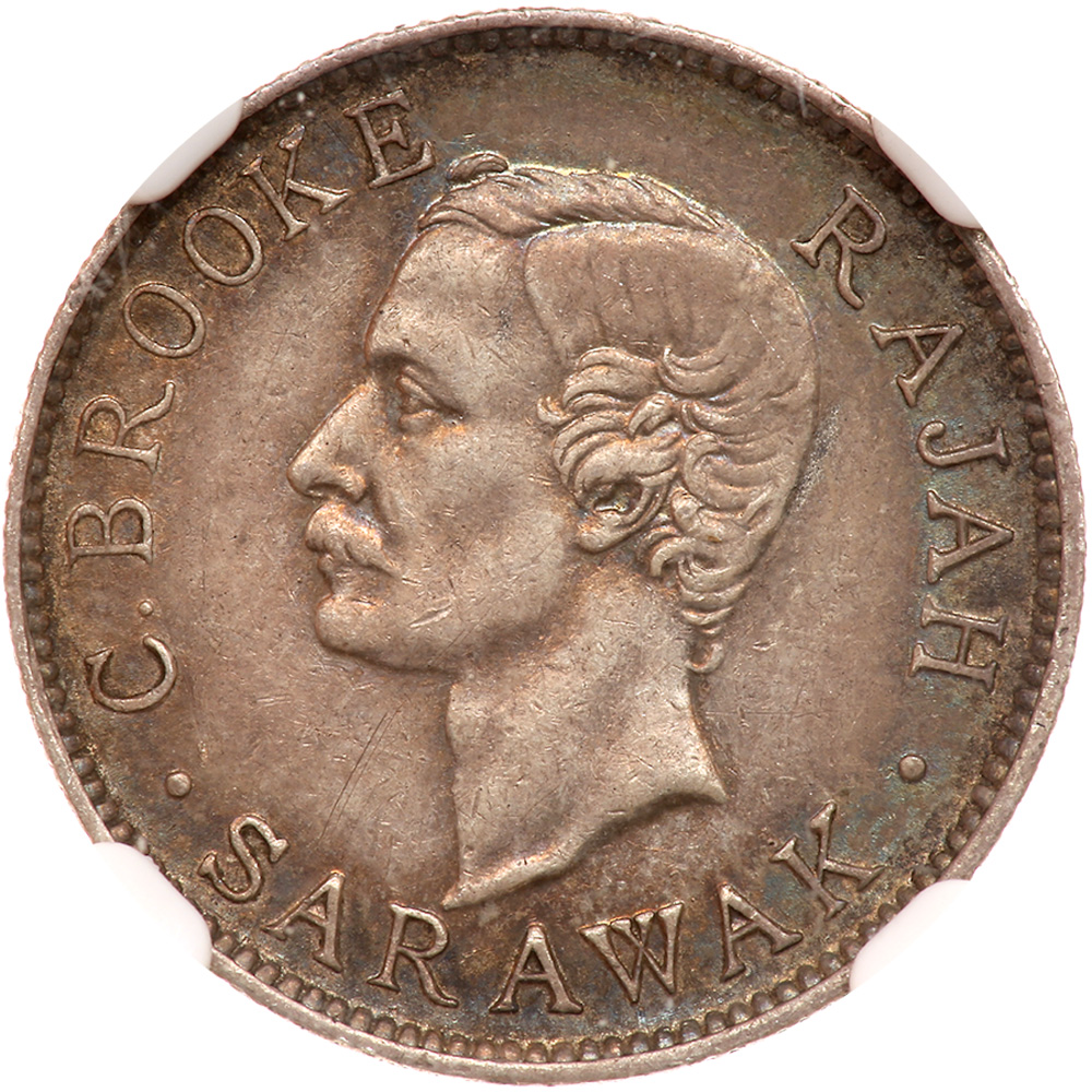 Ten Cents (Silver): Photo Sarawak 1910-H 10 cents - CoinFactsWiki