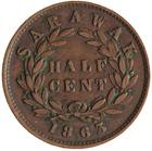 Half Cent 1863: Photo Coin - 1/2 Cent, Sarawak, 1863