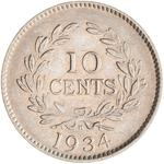 Ten Cents 1934: Photo Coin - 10 Cents, Sarawak, 1934