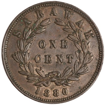 One Cent 1880: Photo Copper cent, SE Asia, 1880