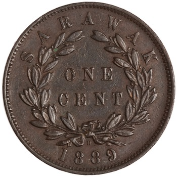 One Cent 1889: Photo Bronze cent, Birmingham, 1889