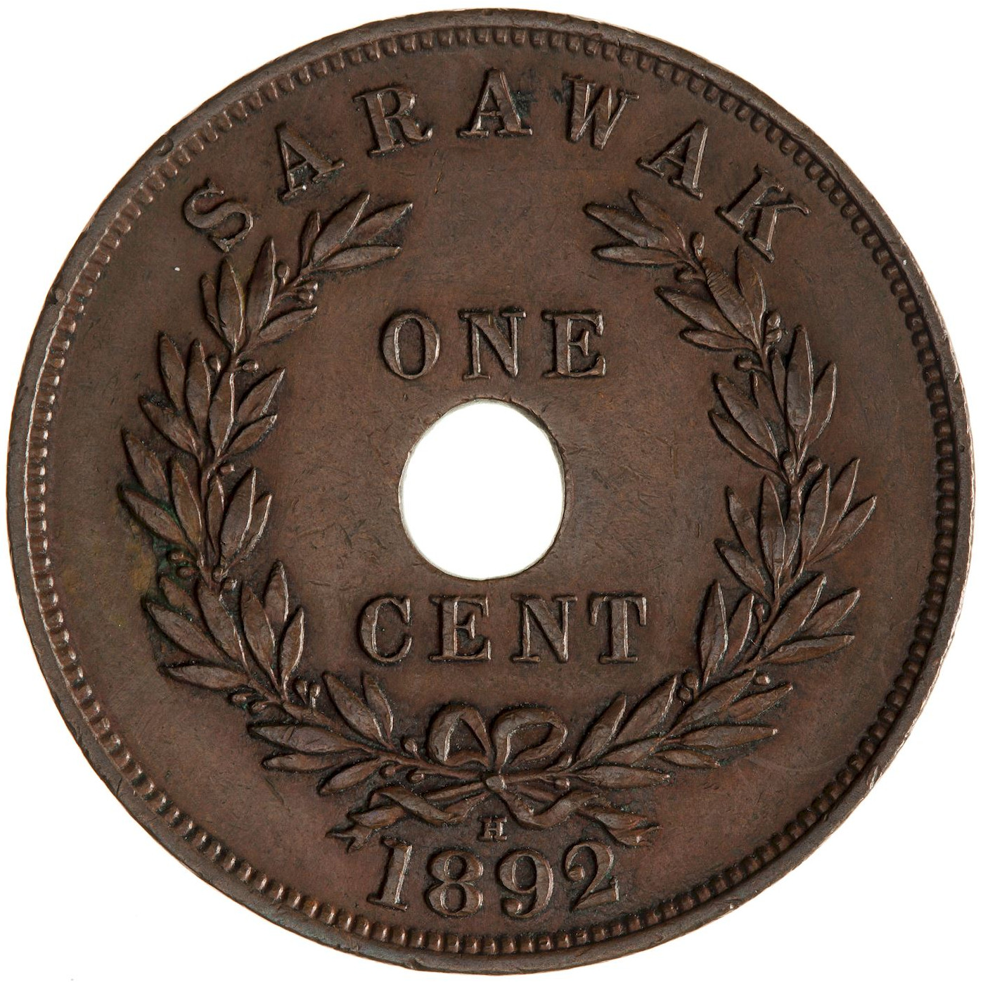 One Cent 1892: Photo Coin - 1 Cent, Sarawak, 1892