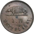 Keping 1842: Photo SARAWAK, token coinage, keping in copper, 1841 (KM.Tn1)