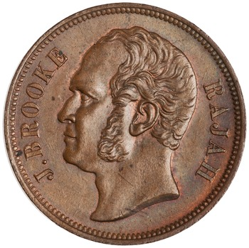 One Cent 1863: Photo Bronze cent, SE Asia, 1863
