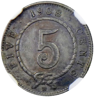 Five Cents 1908: Photo Sarawak 1908-H 5 cents
