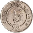 Five Cents 1900: Photo Coin - 5 Cents, Sarawak, 1900