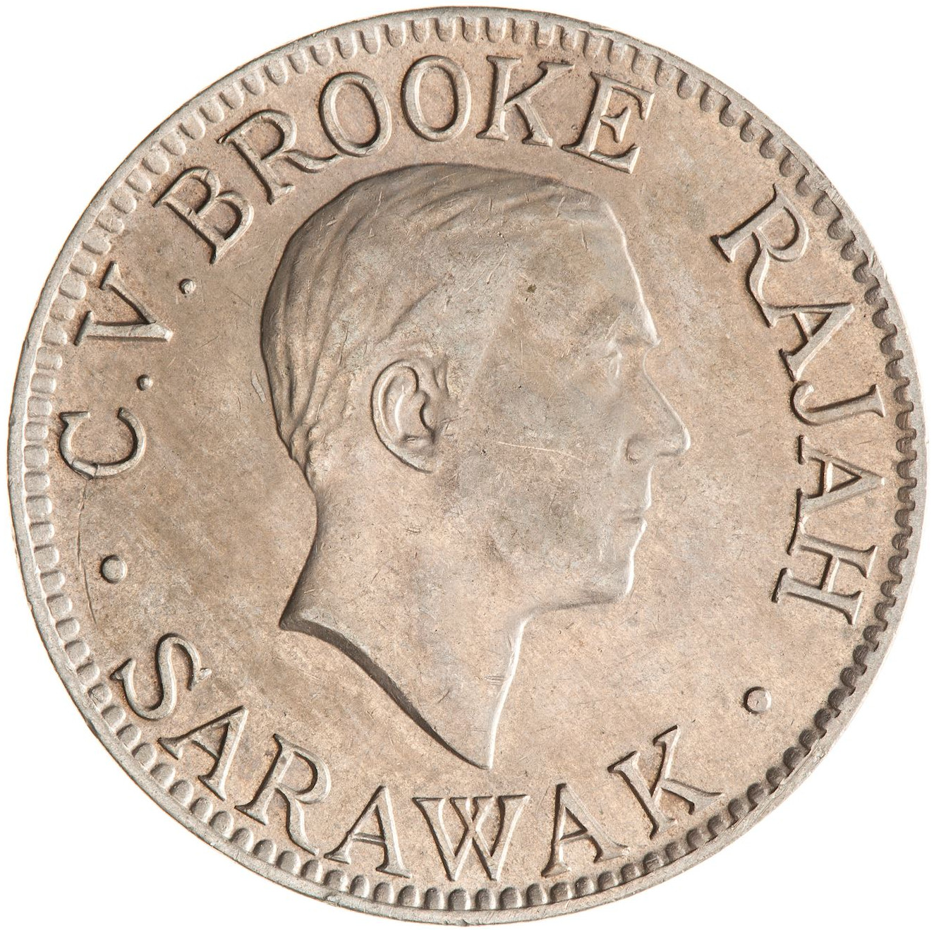 Ten Cents: Photo Coin - 10 Cents, Sarawak, 1934
