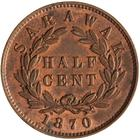 Half Cent 1870: Photo Coin - 1/2 Cent, Sarawak, 1870
