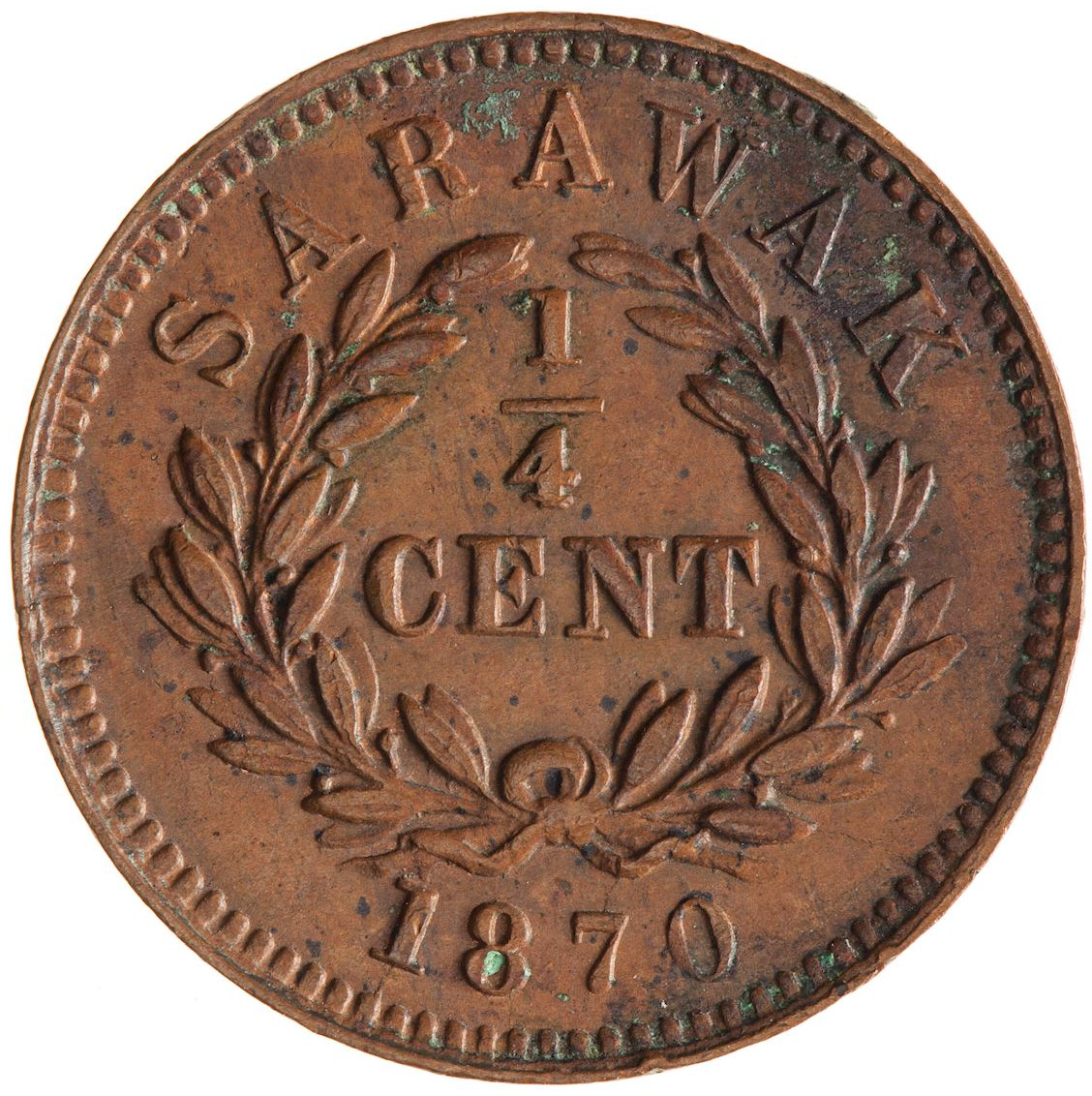 Quarter Cent 1870: Photo Coin - 1/4 Cent, Sarawak, 1870
