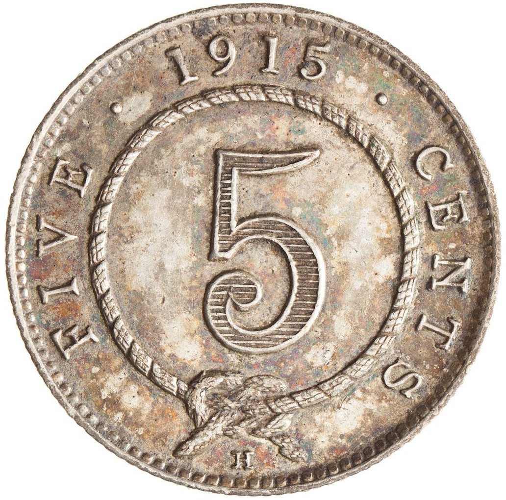 Five Cents 1915: Photo Coin - 5 Cents, Sarawak, 1915