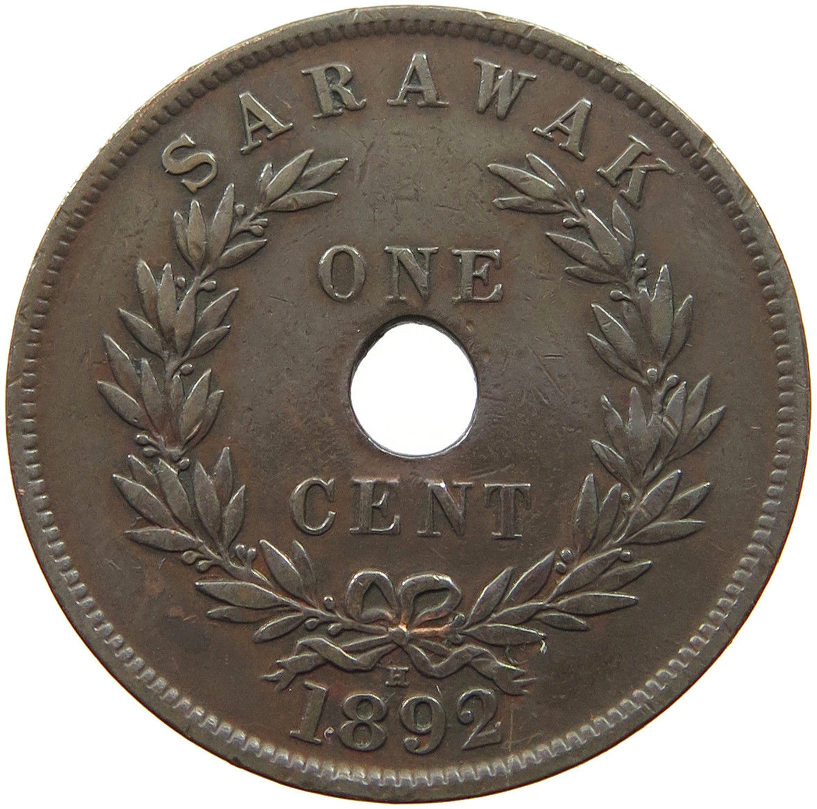 One Cent: Photo Coin - 1 Cent, Sarawak, 1892