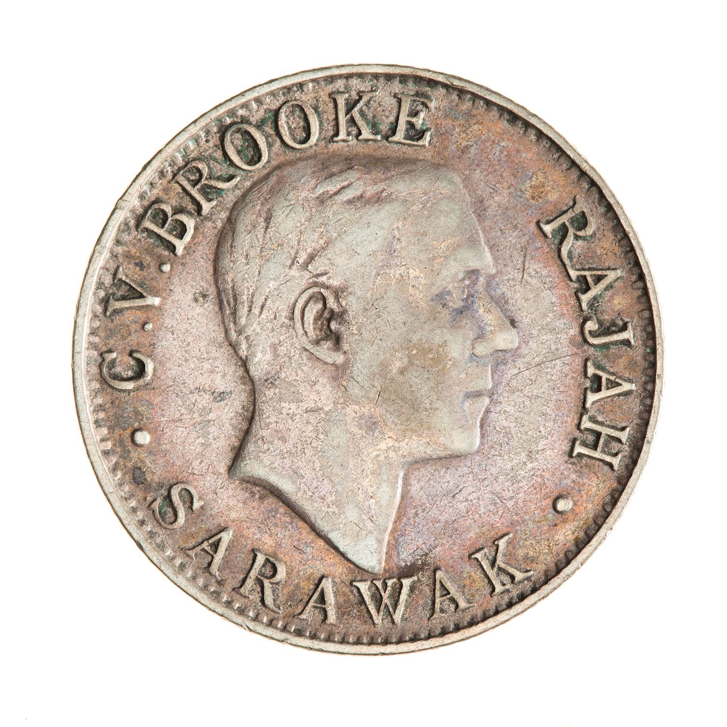 Twenty Cents 1927: Photo Coin - 20 Cents, Sarawak, 1927