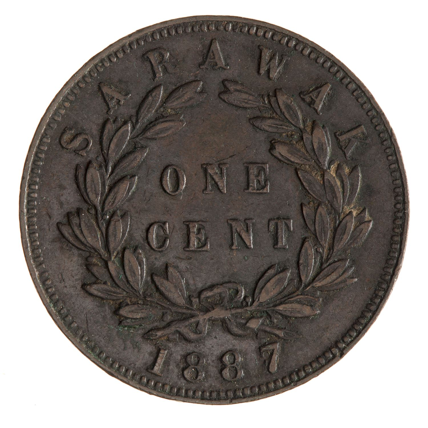 One Cent 1887: Photo Coin - 1 Cent, Sarawak, 1887
