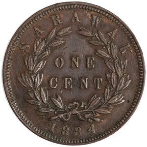 Sarawak / One Cent 1884 - reverse photo