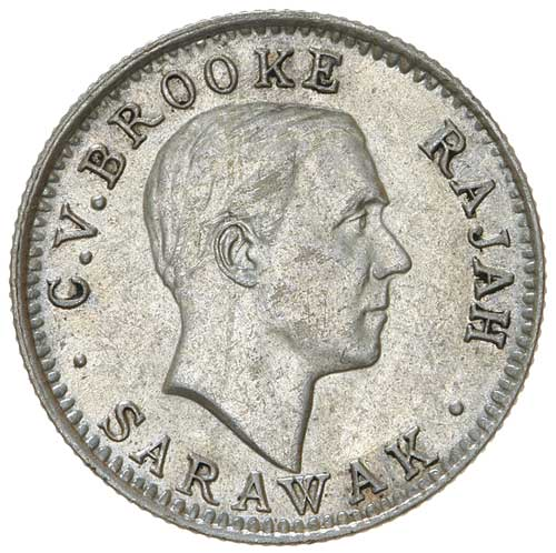 Five Cents 1920 (Silver): Photo SARAWAK, Charles Vyner Brooke (1917-1946), silver five cents, 1920H
