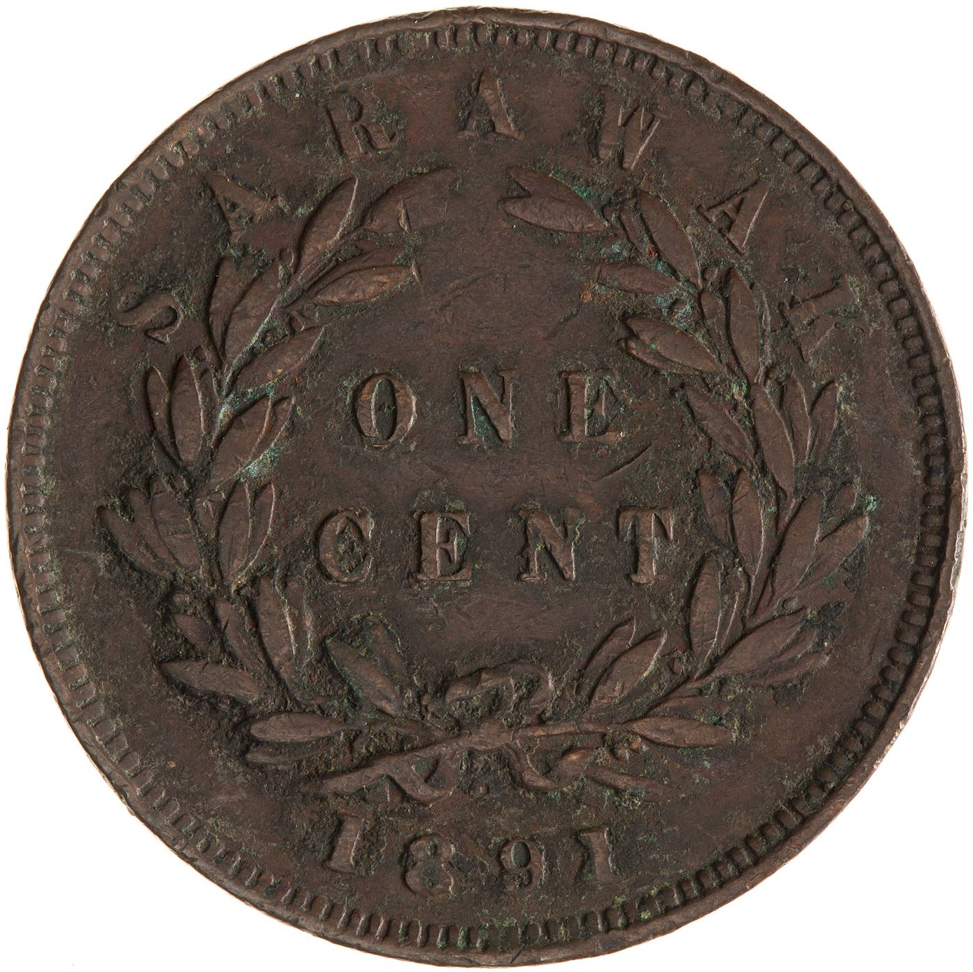 One Cent 1891: Photo Coin - 1 Cent, Sarawak, 1891