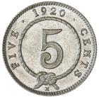 Sarawak / Five Cents 1920 (Silver) - reverse photo