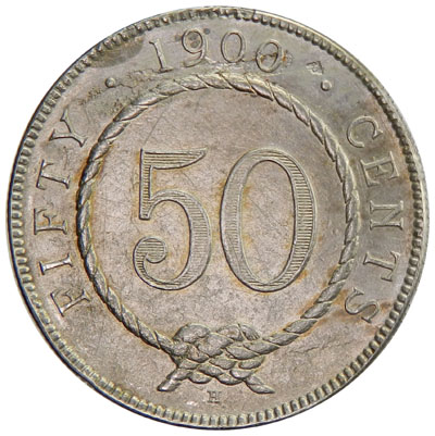 Fifty Cents 1900: Photo Sarawak 1900-H 50 cents