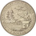 Solomon Islands / One Dollar 1991 Pearl Harbour - reverse photo