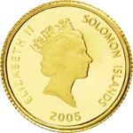 Solomon Islands / Ten Dollars Gold 2005 Prospecting for Gold - obverse photo