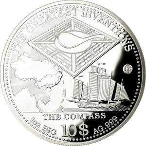 Solomon Islands / One Ounce Silver 2014 The Compass - reverse photo
