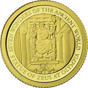 Solomon Islands / Five Dollars Gold 2011 Statue of Zeus - obverse photo