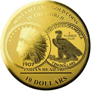 Solomon Islands / Ten Dollars Gold 2017 Indian Head - reverse photo