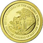Solomon Islands / Five Dollars Gold 2011 Hanging Gardens - obverse photo