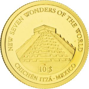 Solomon Islands / Ten Dollars Gold 2007 Chichen Itza - reverse photo