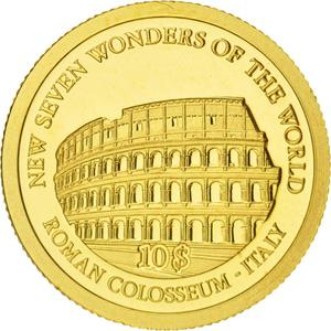 Solomon Islands / Ten Dollars Gold 2007 Colosseum - reverse photo
