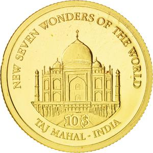 Solomon Islands / Ten Dollars Gold 2007 Taj Mahal - reverse photo